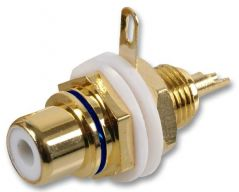 PRO SIGNAL PSG03380.  Chassis Socket, Phono/Rca, Gold/Blue